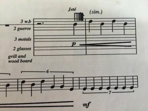 (Sheet music that looks kinda like piano music)