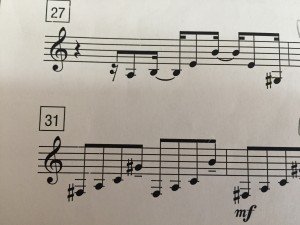 (Sheet music image that looks like piano music)